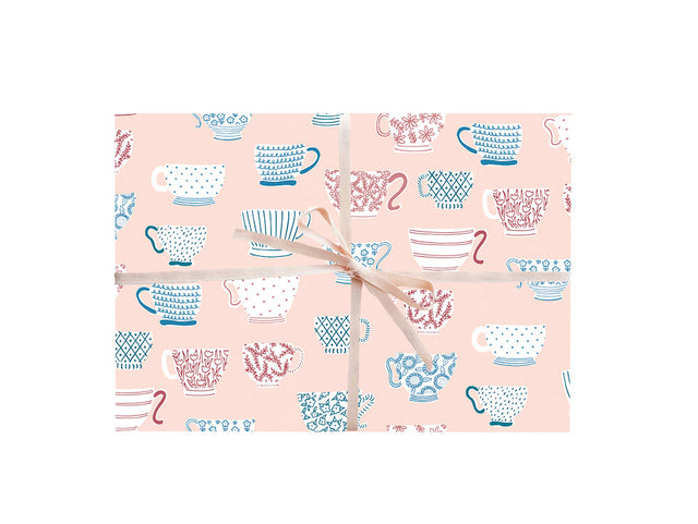 Teacups Wrapping Sheets