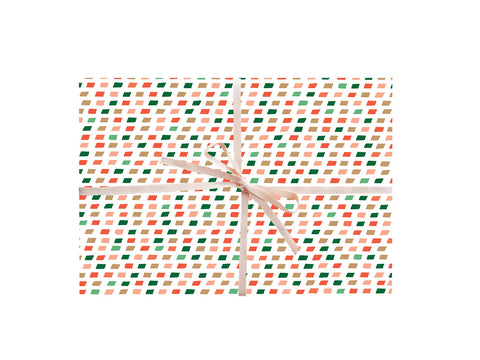 Christmas Colors Holiday Wrapping Sheets