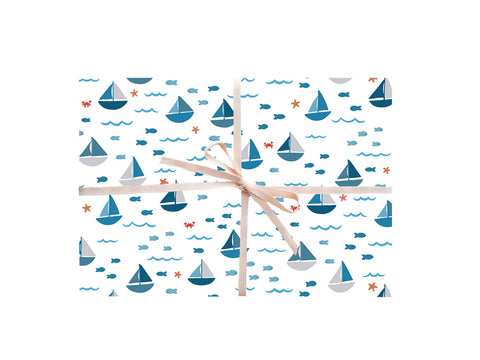 Sailboats Wrapping Sheets