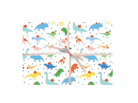 Dinosaur Wrapping Sheets