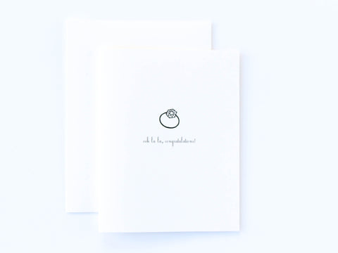 Diamond Ring Engagement Congratulations Card
