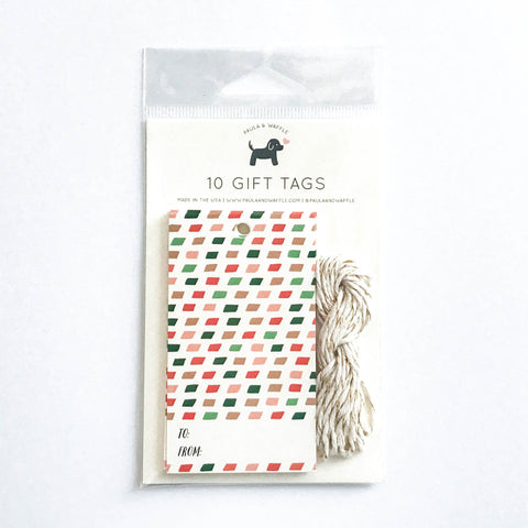 Christmas Colors Holiday Gift Tags