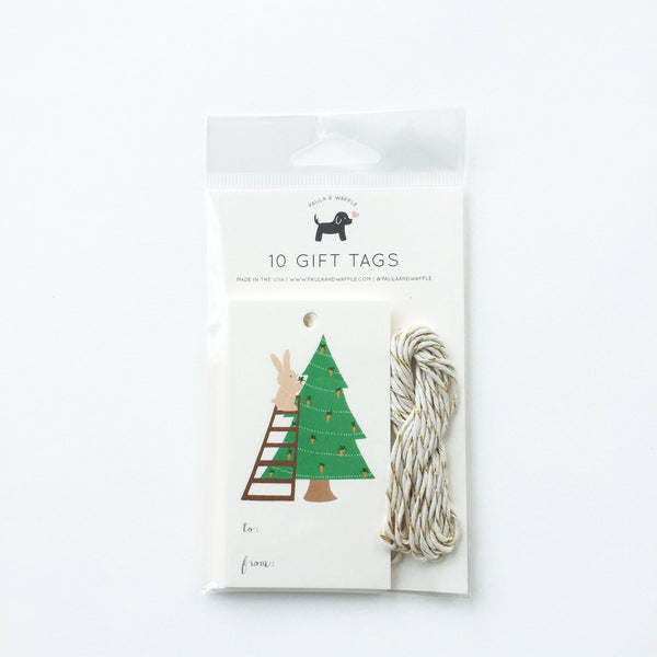 Bunny Christmas Gift Tags
