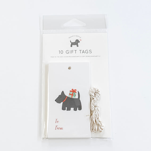 Scottish Terrier Dog Holiday Gift Tags
