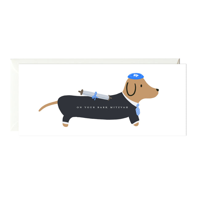 Bark Mitzvah Dachshund Bar Mitzvah Card