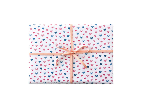 Pink and Blue Hearts Wrapping Sheets