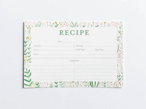 Garden Florals Recipe Cards