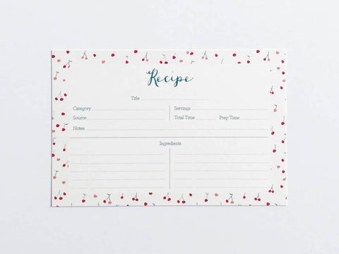 Cherries Recipe Cards