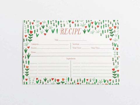 Bright Blooms Recipe Cards