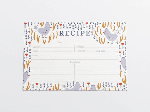 Chickens Recipe Cards