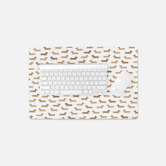 Dachshund Dog Small Desk Mat