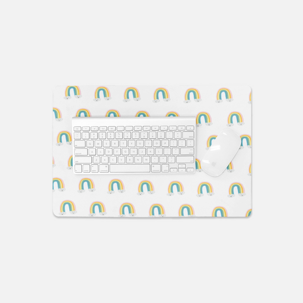 Rainbows Small Desk Mat