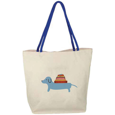 Dachshund Books Tote Bag
