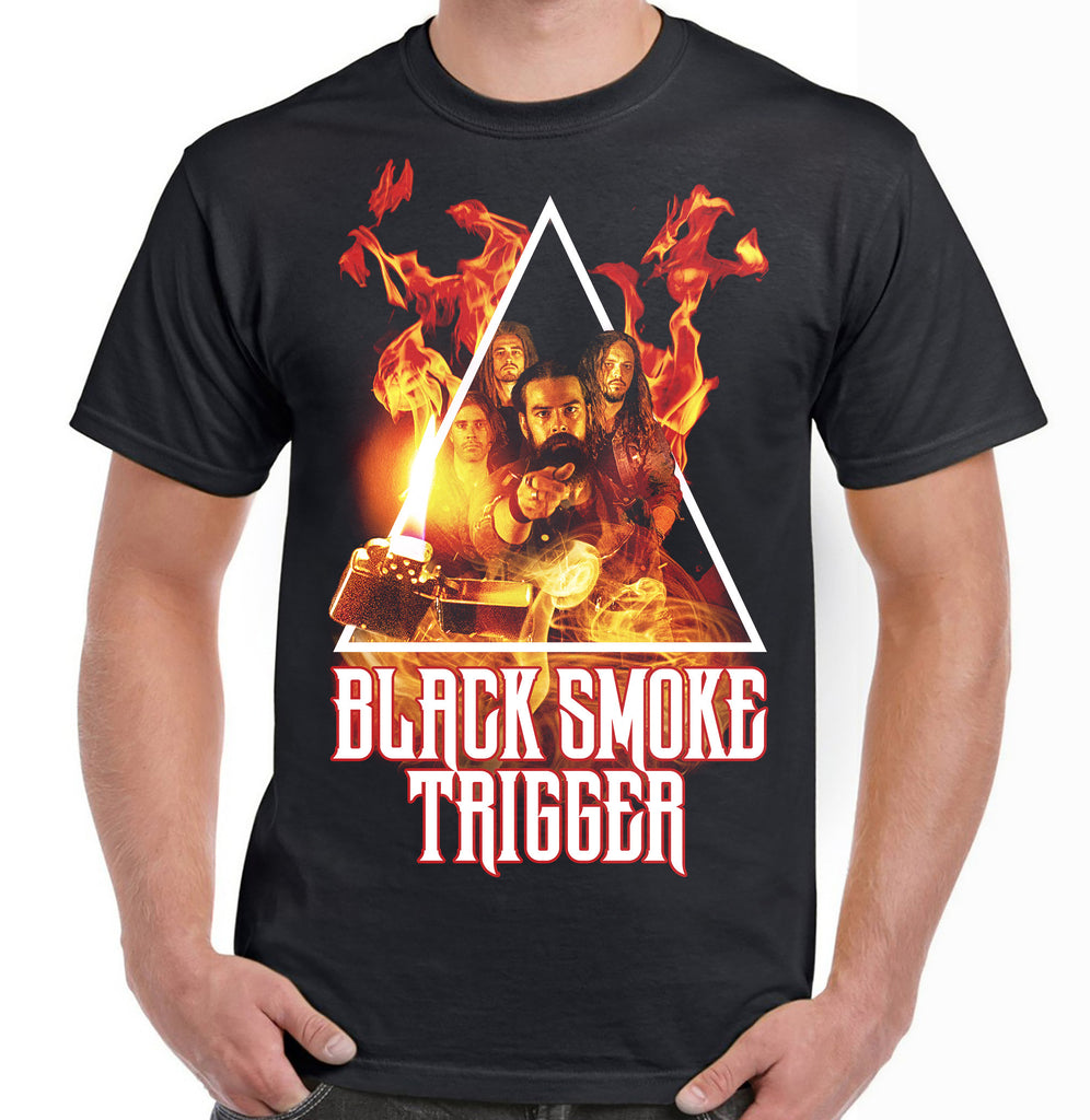 Black Smoke Trigger Photo Art Shirt - Black