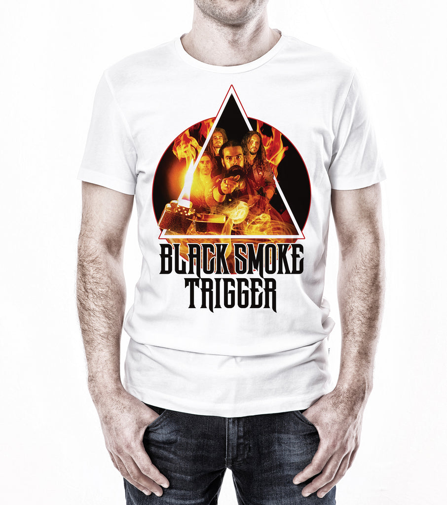 Black Smoke Trigger Photo Art Shirt - White - Black Smoke Trigger