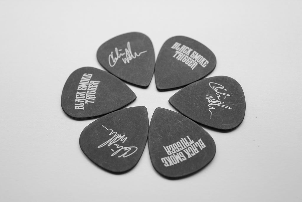 Charlie Wallace Signature Guitar Picks (6 Pack) - Black Smoke Trigger
