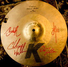 Load image into Gallery viewer, Used Zildjian K Custom Hybrid 13 Cymbal - Signed by Black Smoke Trigger