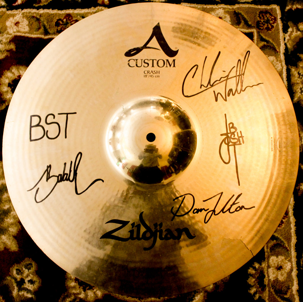 Used Zildjian A Custom 18 Cymbal - Signed by Black Smoke Trigger - Black Smoke Trigger