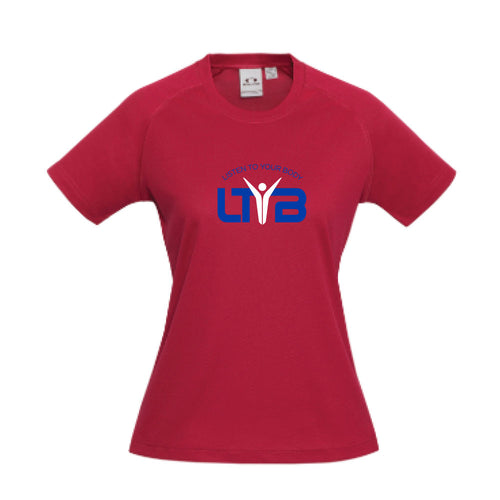 Ladies CoolDry T-Shirt - Red - LTYB Online Store