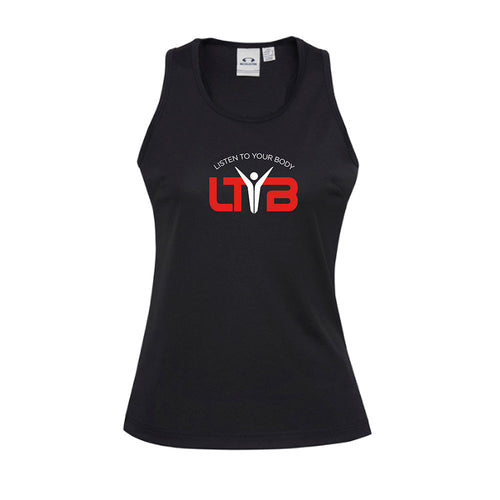 Ladies CoolDry Singlet - Black - LTYB Online Store