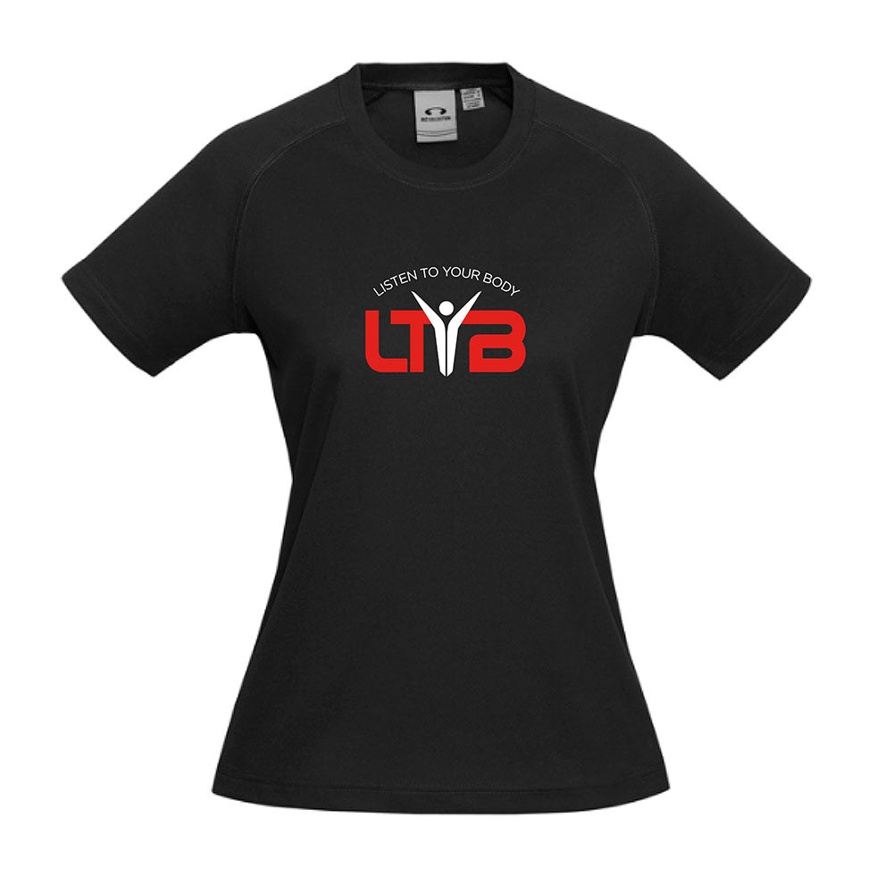 Ladies CoolDry T-Shirt - Black - LTYB Online Store