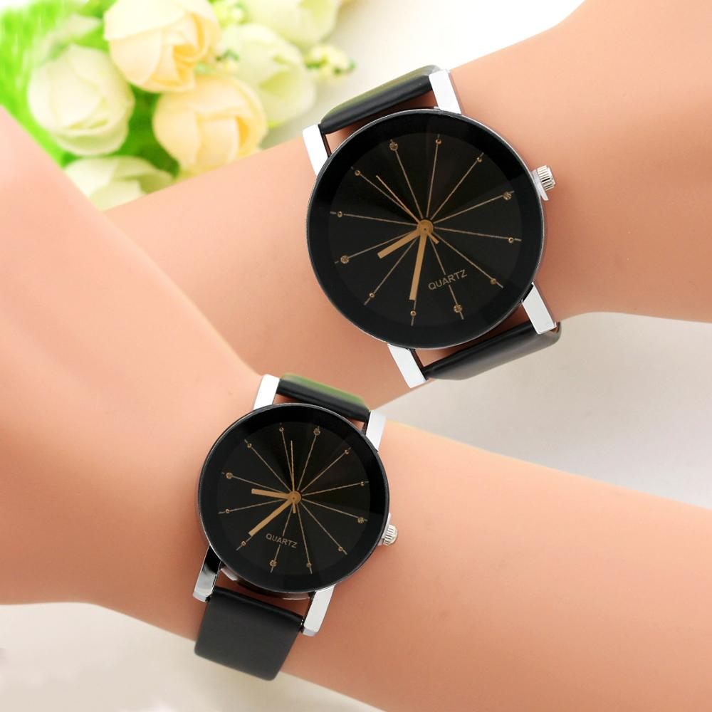 2019 Fashion Round Couple Watch