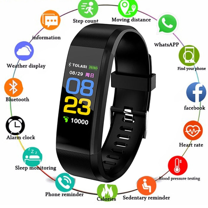 ID115 Plus Smart Wristbands Health Monitor Heart rate/Blood Pressure/Pedometer Bluetooth Waterproof Sports Bracelet Band PK M3