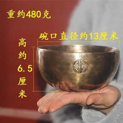 Tibetan Full Moon Singing Bowl Handmade