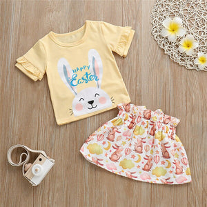 2PCS  Girl Rabbit Outfit Cotton 1-5T