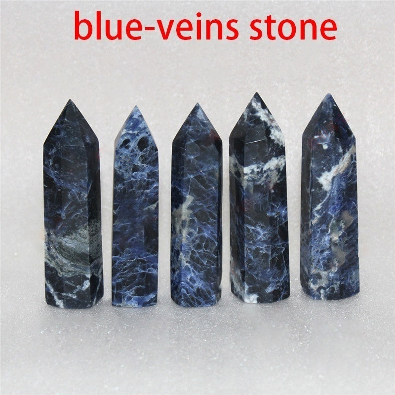 1PCS Hand Polished Natural Crystal Pointed Column