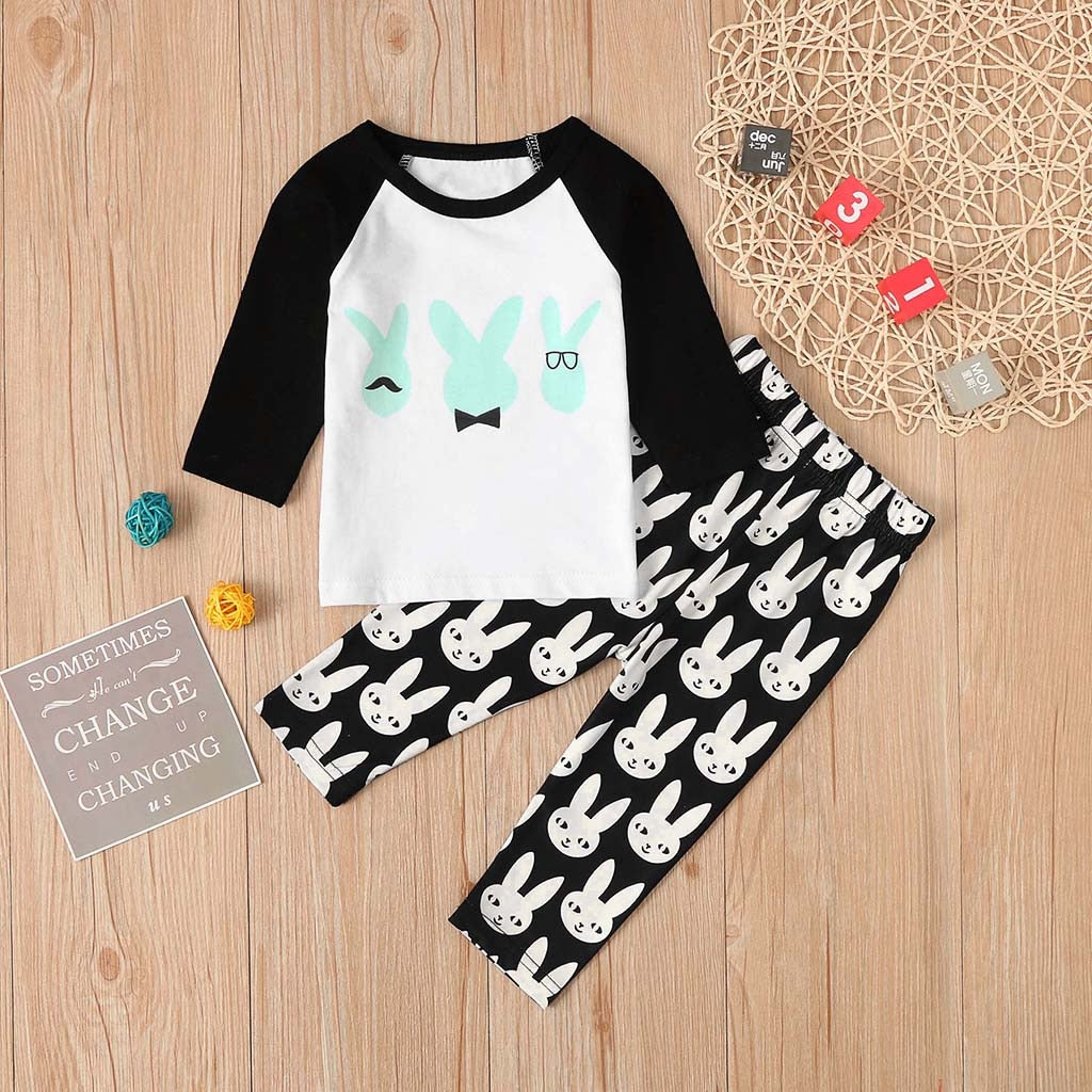 0-24M Rabbit Cartoon Pants Outfit
