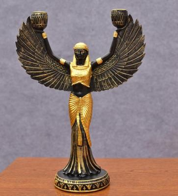 Isis statue Egyptian Goddess Candle Holder