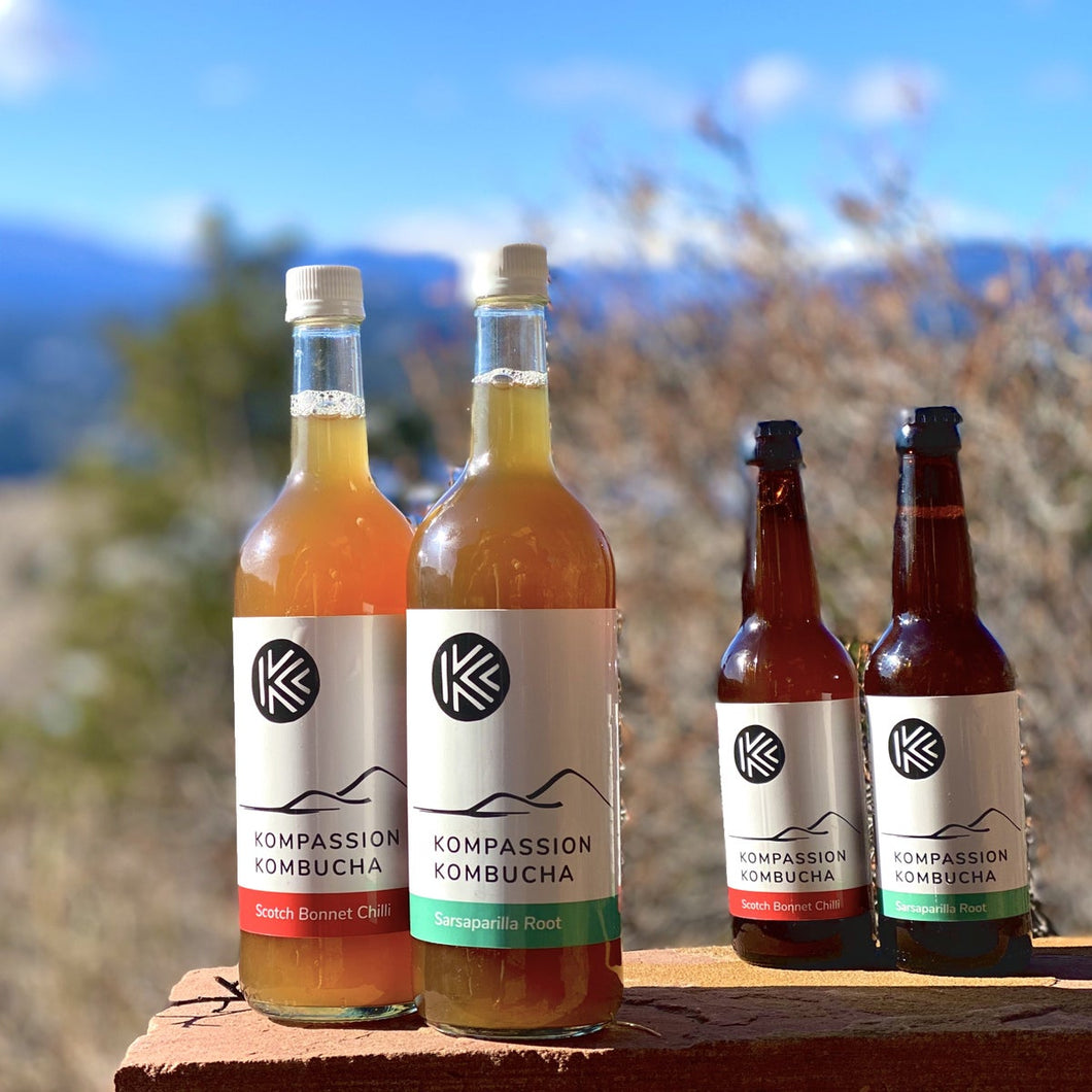 Kompassion Kombucha + New Glass Bottle