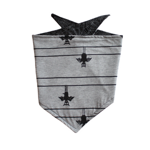 Hanging Bats/Spiderweb Reversible Bandana - Pet Musings