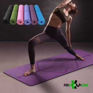 Professional Yoga Mat with Position Guidelines