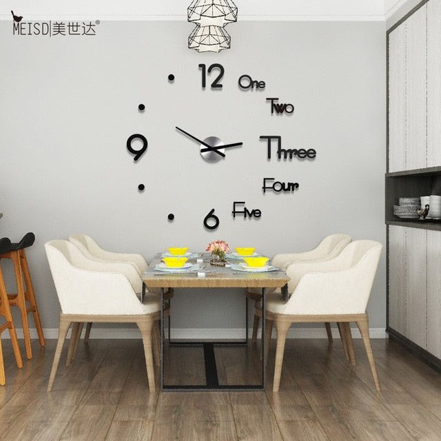 3D DIY Digital Wall Clock ( FREE SHIPPING )