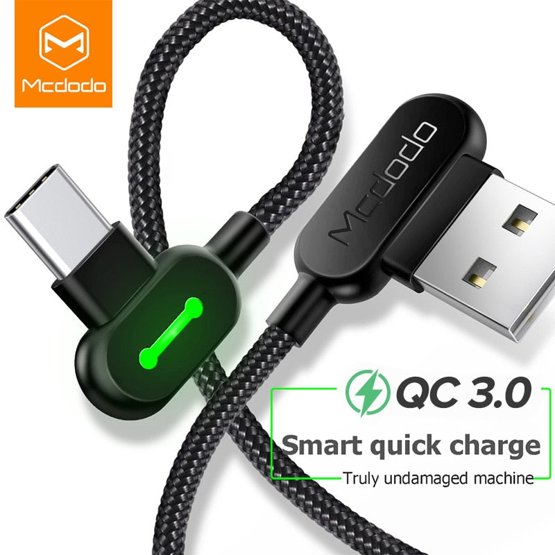 90° HEAD FOR COMFORT & STRENGTH POWER CORD ( Charging Cable )