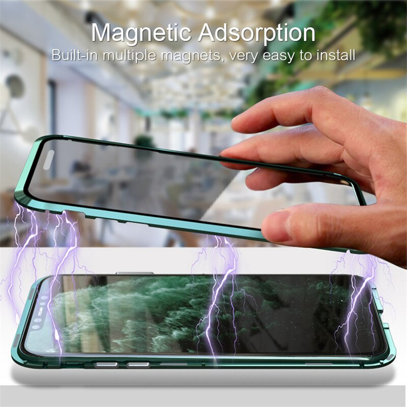 Upgraded Two Side Tempered Glass Magnetic Adsorption Phone Case for iPhone 11 11Pro 11Pro Max
