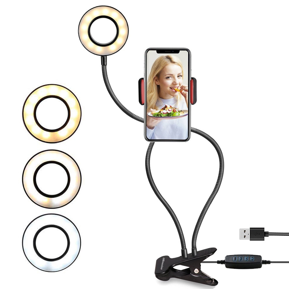 Stretchable LED Ring Light with Stand