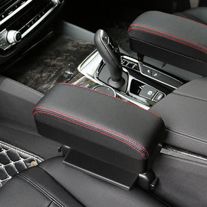 Auto Vehicle Seat-side Pocket Organizer Storage Caddy Extra Storage-Fit Most Cars Coin Catcher HOOMEE Deluxe PU Leather Multi-Functional Console Car Seat Gap Filler Black