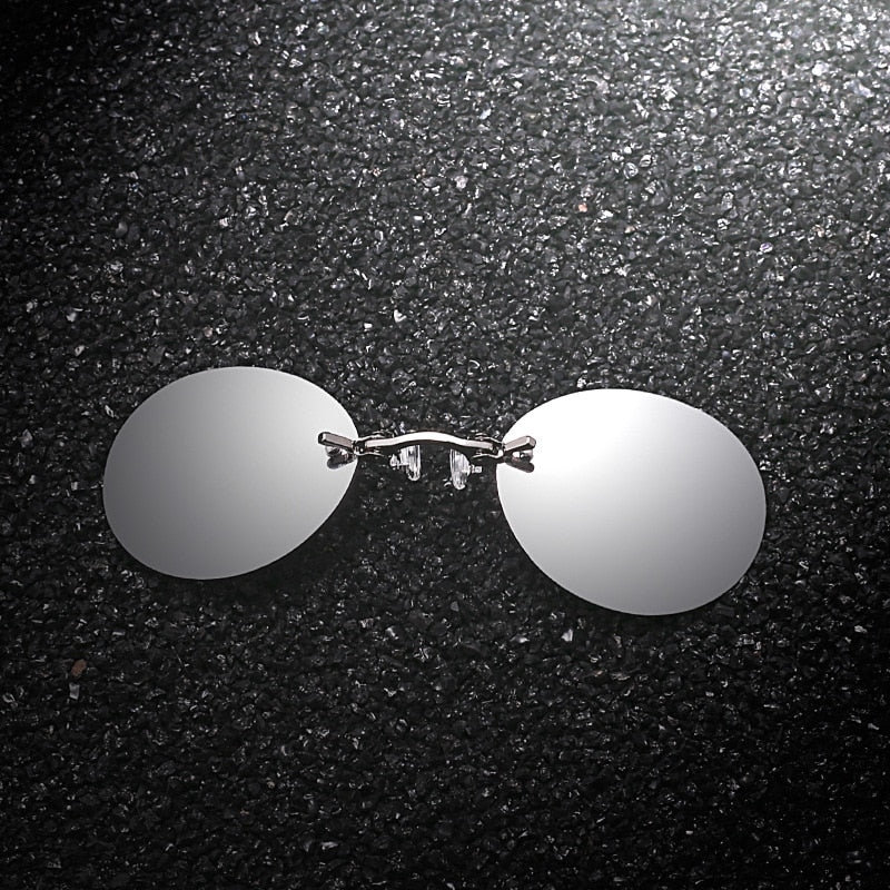 Rimless Clamp Glasses