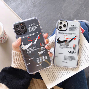 Air Case for iPhone - Creative Tide Brand Label Design - Off-White