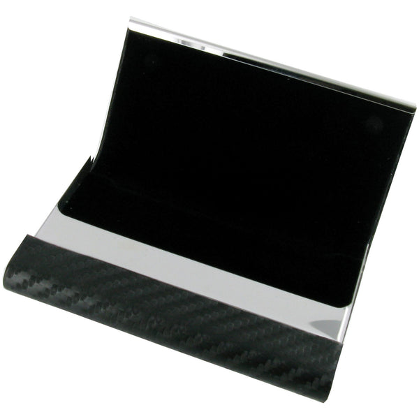 Black Carbon Fibre Effect PU Business Card holder