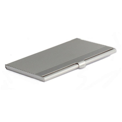 Stainless Steel Business Card Holder with Lines
