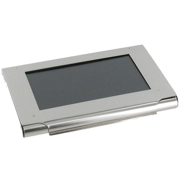 Stainless Steel Business Card Holder with Photo Frame