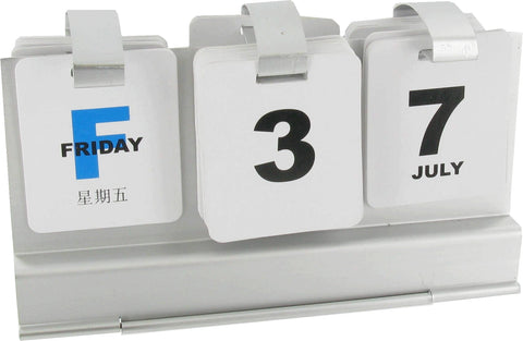 Perpetual Desk Calendar in a Black Gift Box