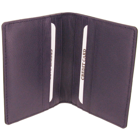 Black & Purple Calf Leather Credit Card Cases