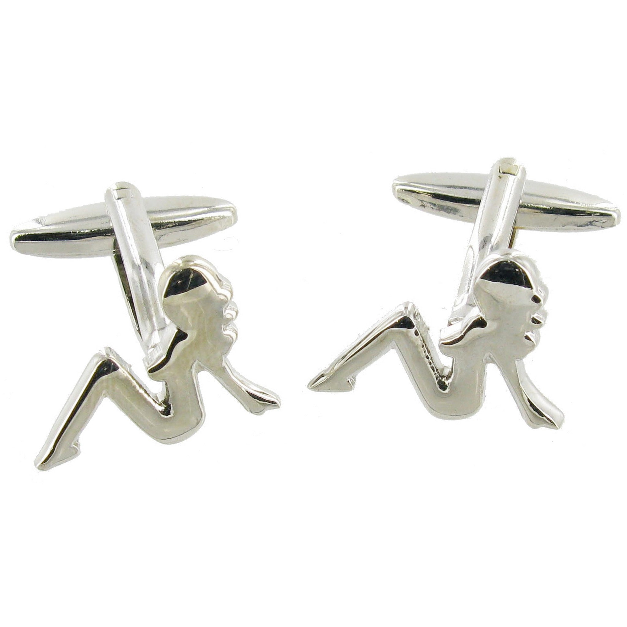 Lady Silhouette Cuff Links