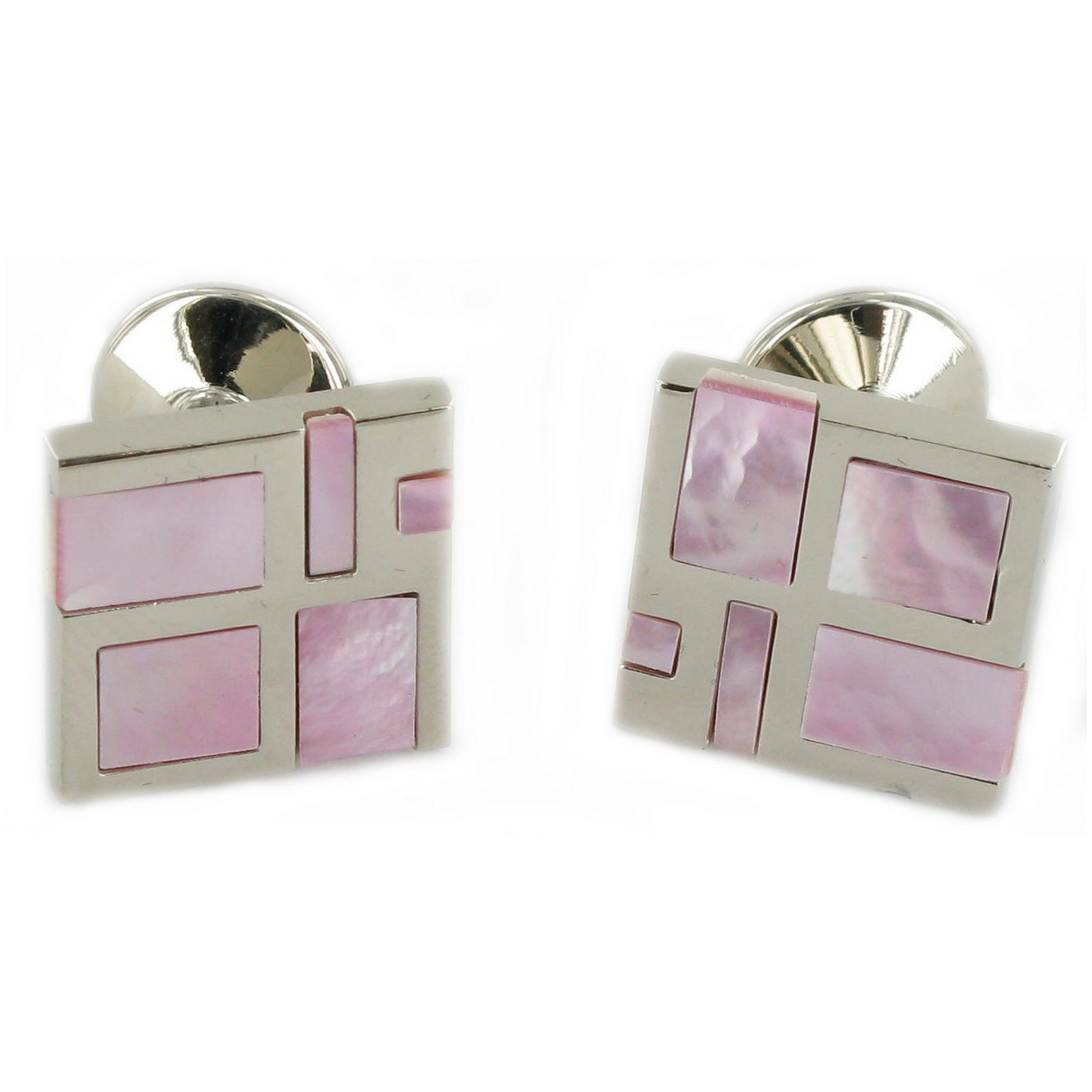 Pink Cloisonne' Cuff Links