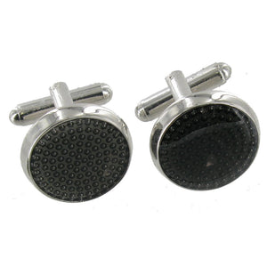 Circular Cuff Links With Black Dots